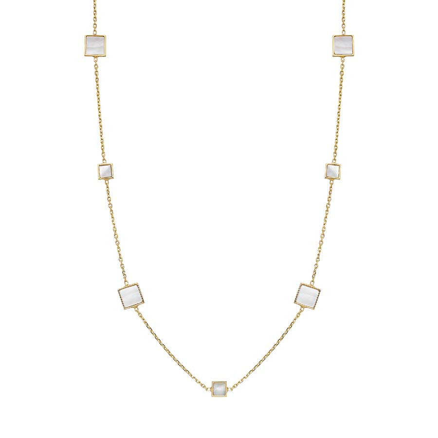 Honora Mother of Pearl Square Station Tincup Necklace