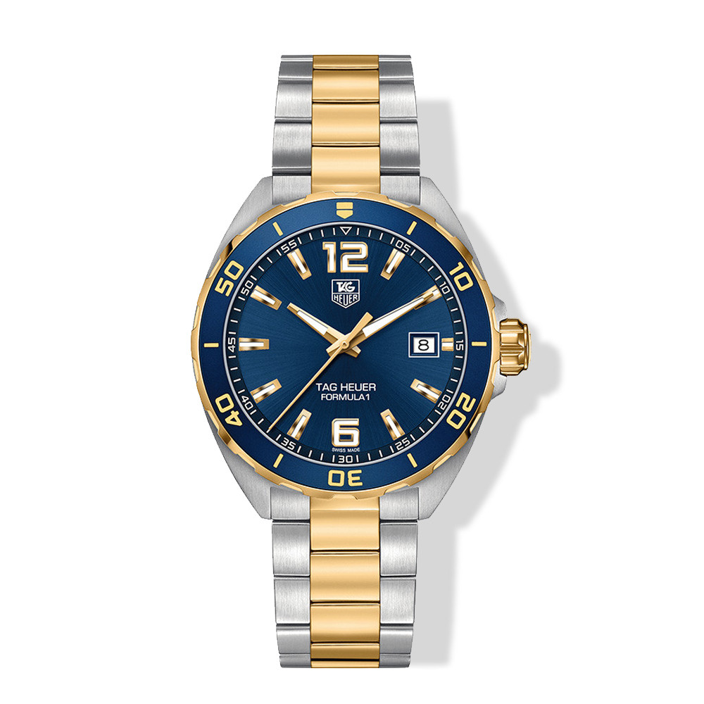 Tag Heuer Two Tone Blue Dial Sports Formula 1 Watch
