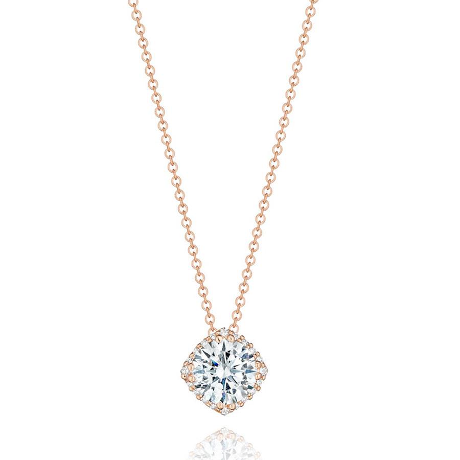 Tacori 1/2 Carat Diamond Rose Gold Pendant
