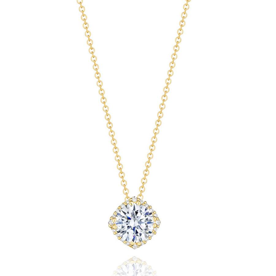 Tacori 1/2 Carat Diamond Yellow Gold Pendant