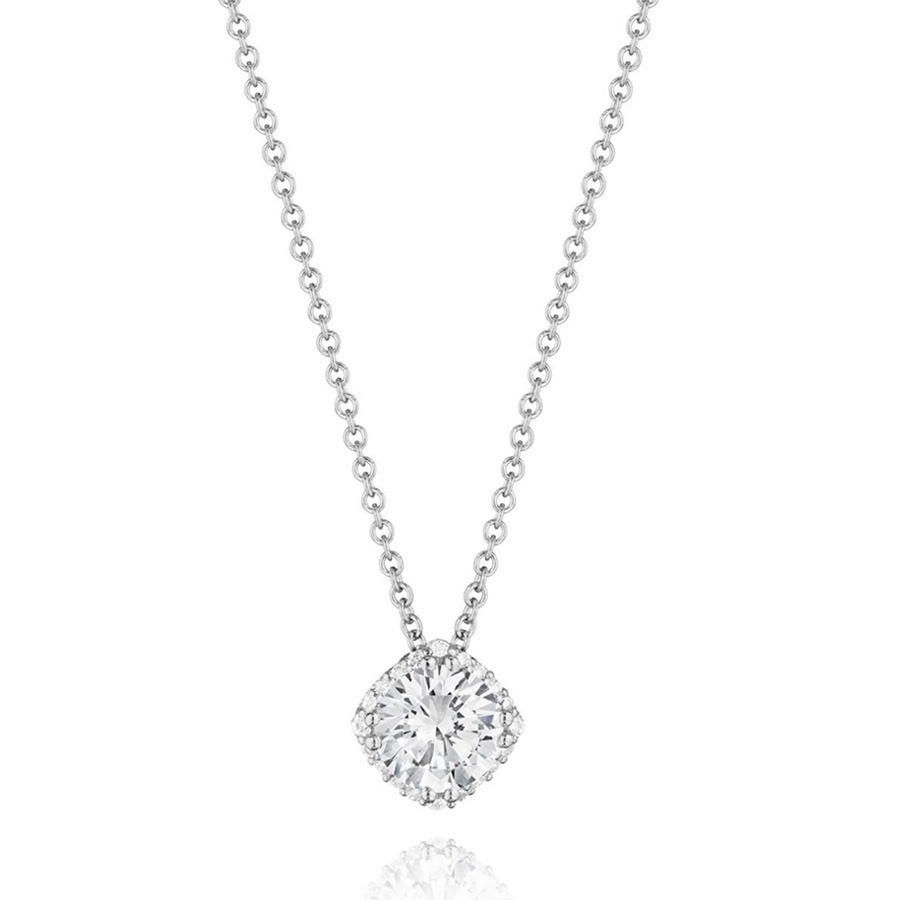 Tacori 1/2 Carat Diamond White Gold Pendant