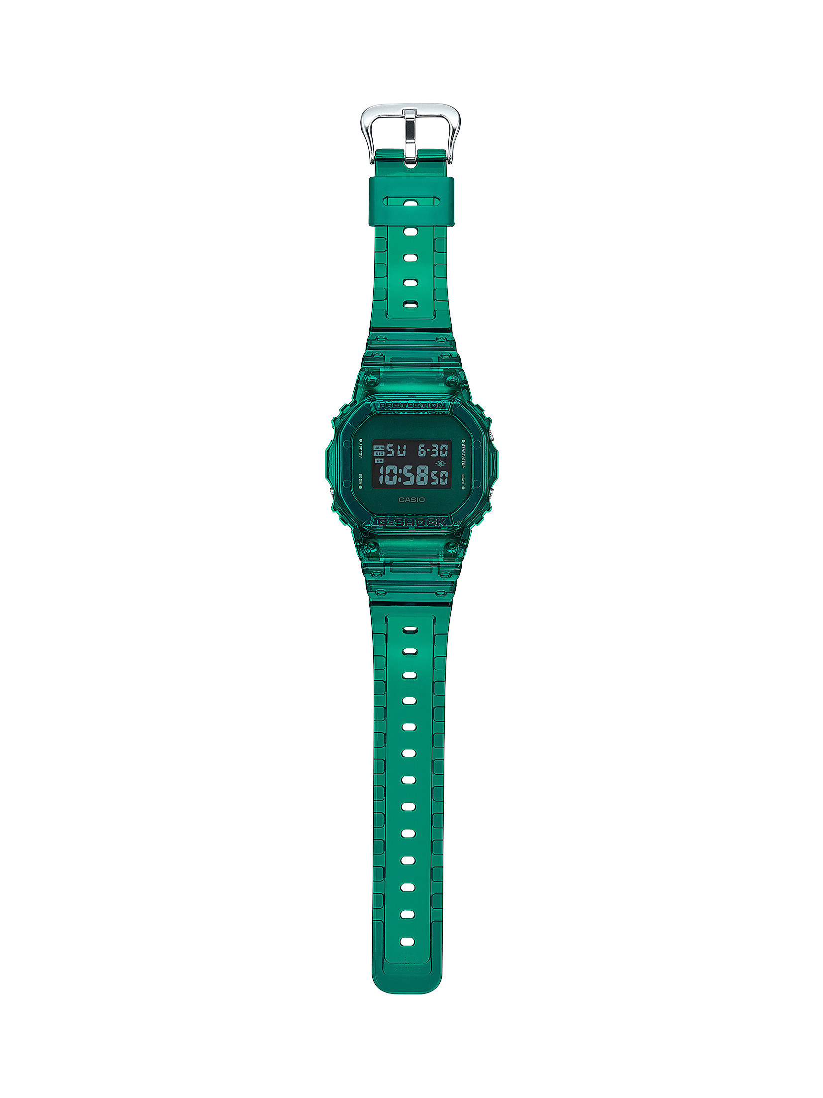 G-SHOCK 90's Color Skeleton Green Digital Watch full view