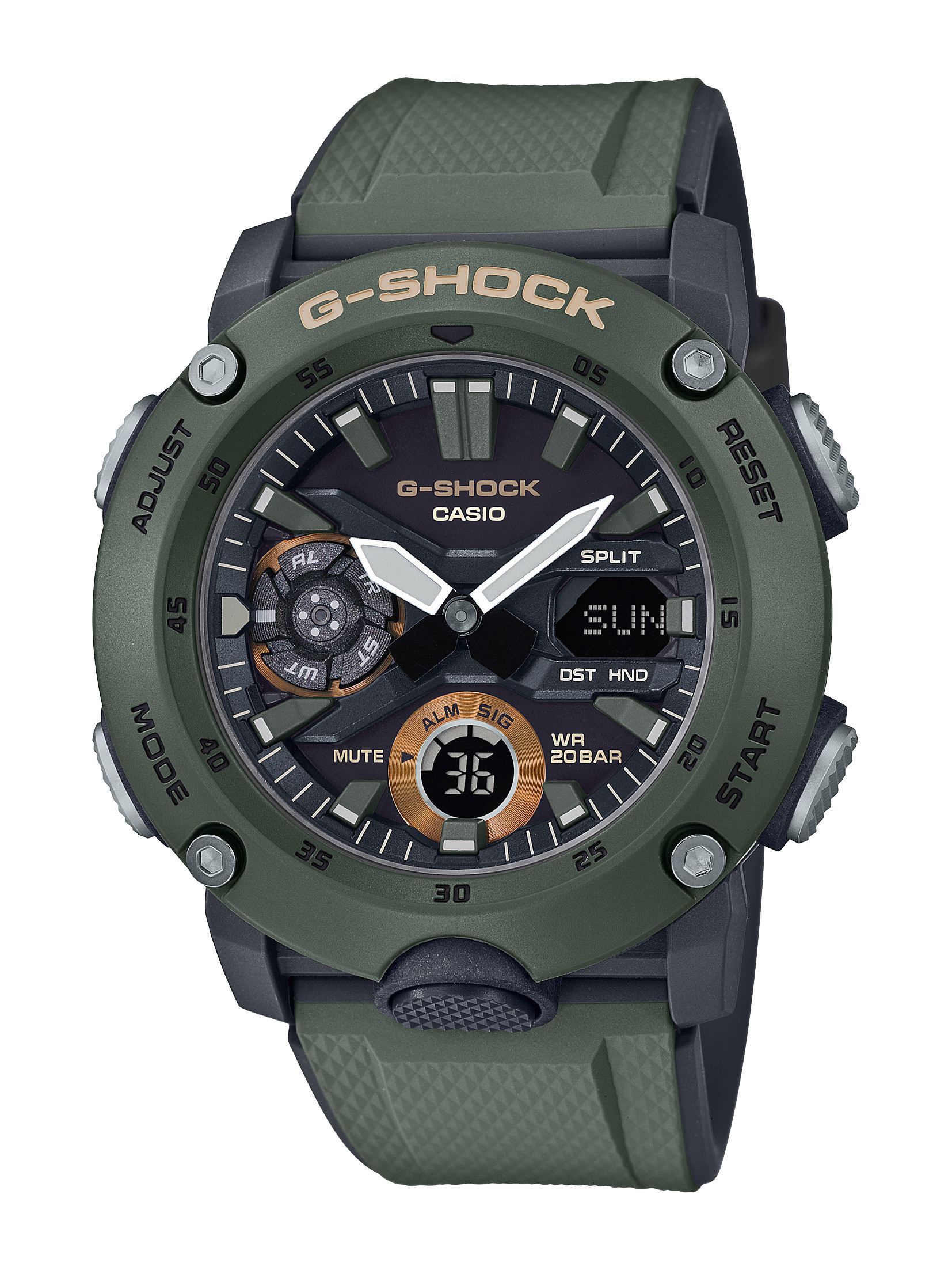 G-Shock Dark Green Analog-Digital Watch