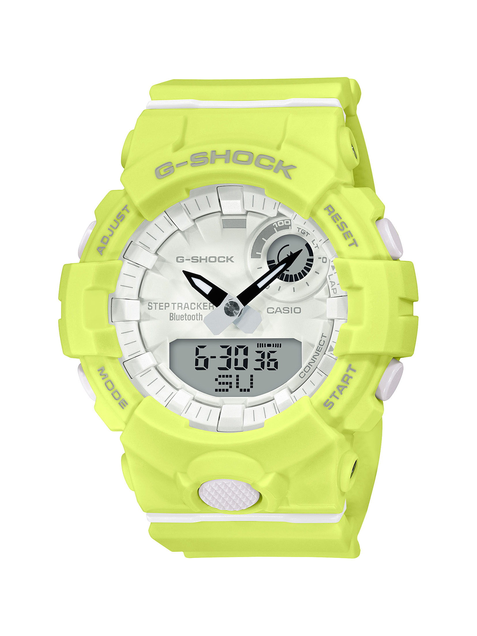 G-SHOCK S-Series Analog Digital Yellow and White Watch