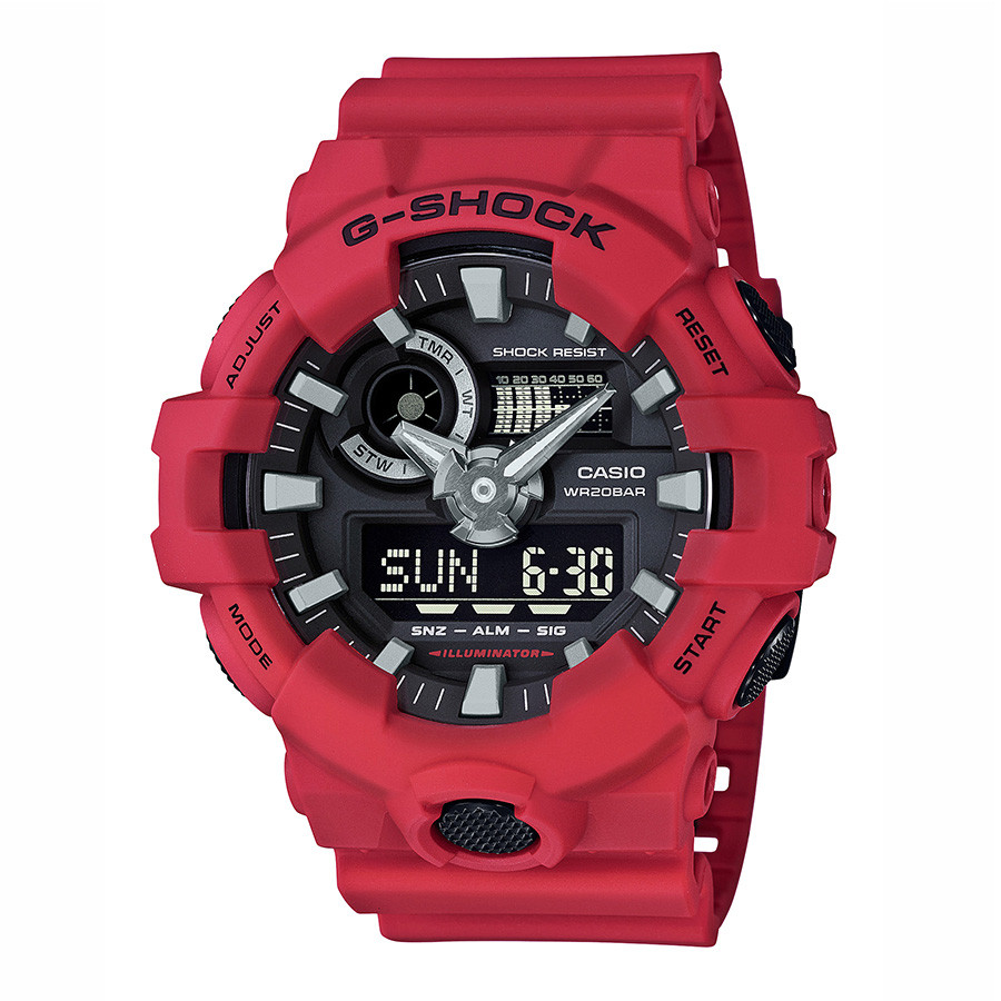 Casio G-Shock Red Oversized Resin Watch