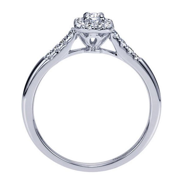 Gabriel&Co Halo Engagement Ring Side View