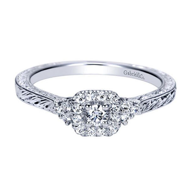 Gabriel&Co Vintage Engagement Ring
