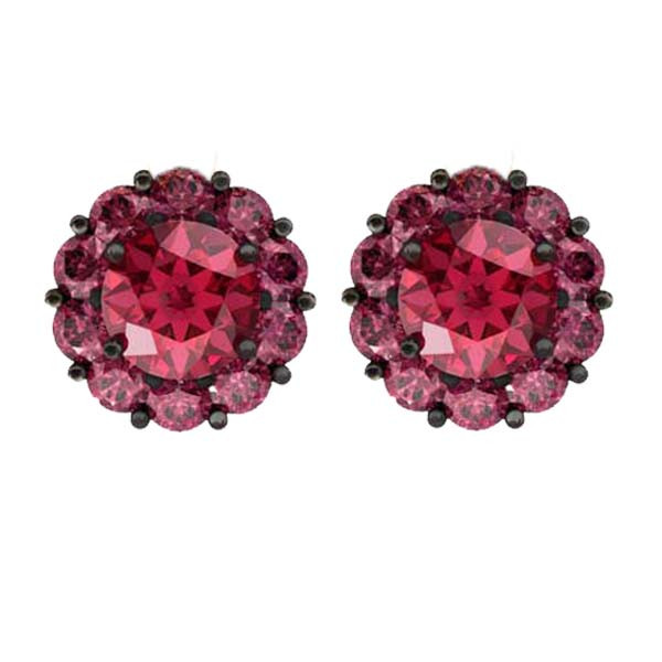 Color My Life Garnet Stud Earrings