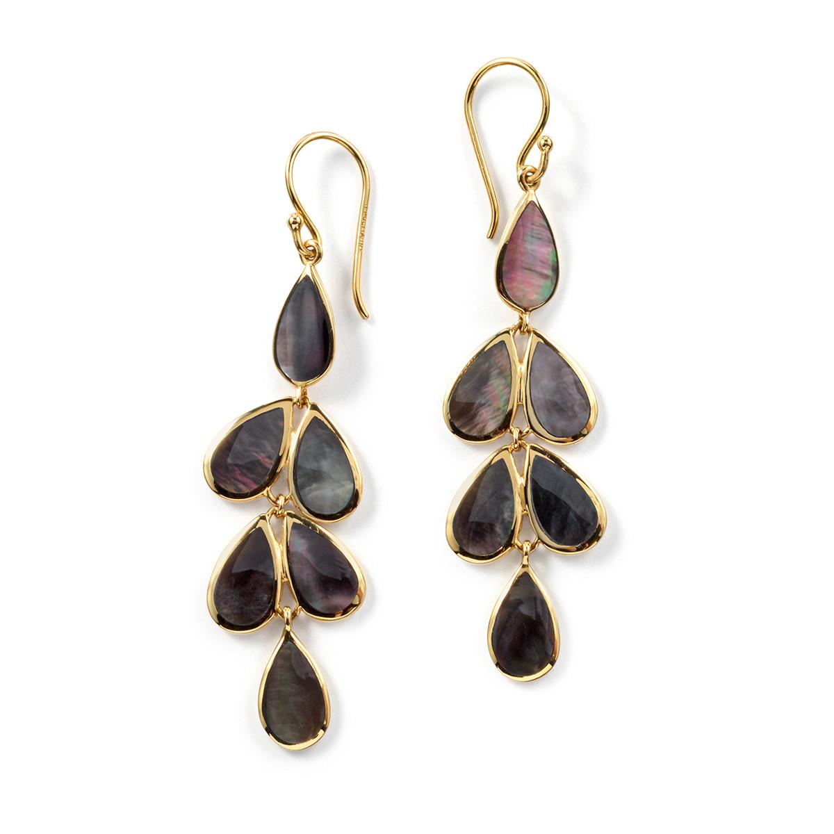 Ippolita Polished Rock Candy Black Shell Cascade Earrings