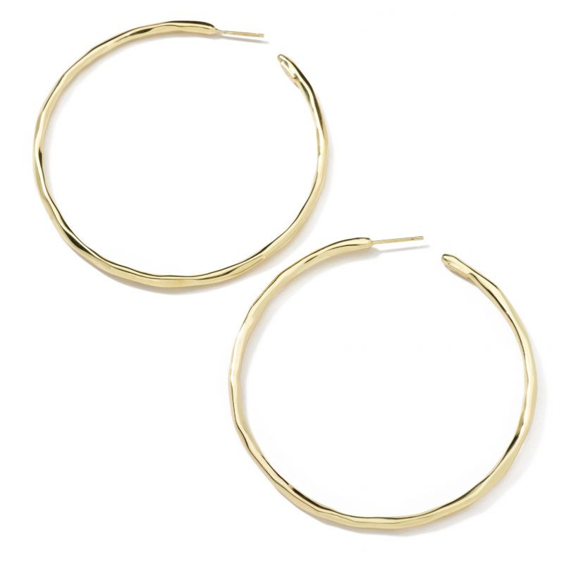 IPPOLITA Classico Extra Large Hoop Earrings in 18K Gold flat view