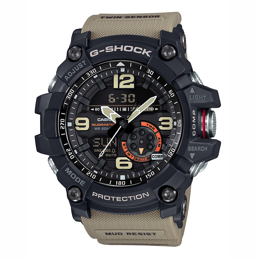 Casio Master of G G-Shock Mudmaster Stainless Steel Black & Tan  Watch