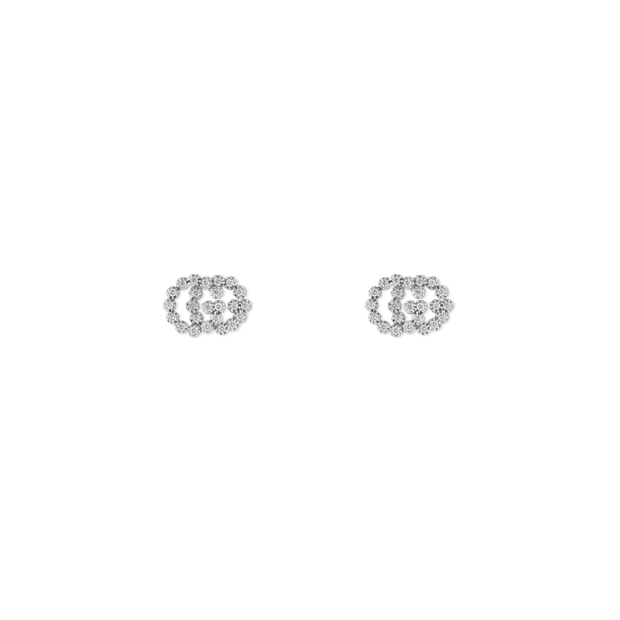 Gucci GG Running Gold and Diamond Earrings Main Image