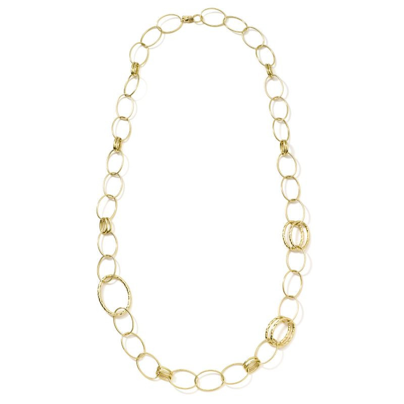 Ippolita 18K Gold Classico Bastille Long Link Necklace full view