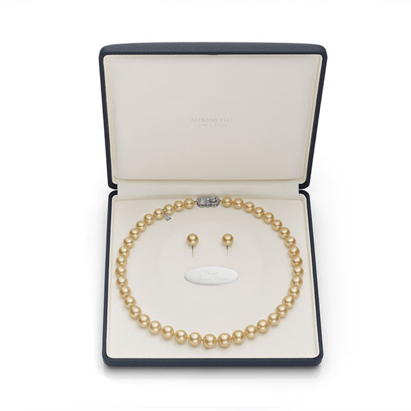 Mikimoto Ginza Golden South Sea Pearl Box Set