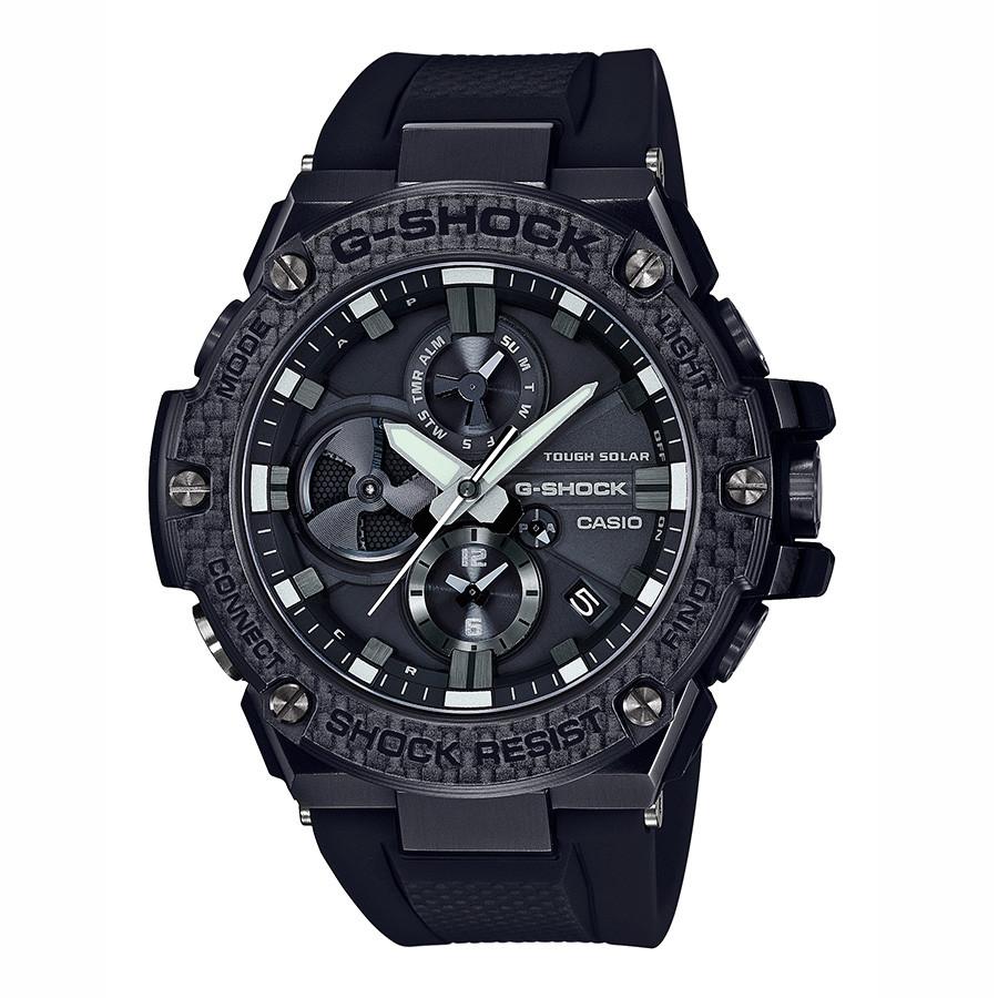Casio G-Steel G-Shock Black Carbon Bezel Solar Watch
