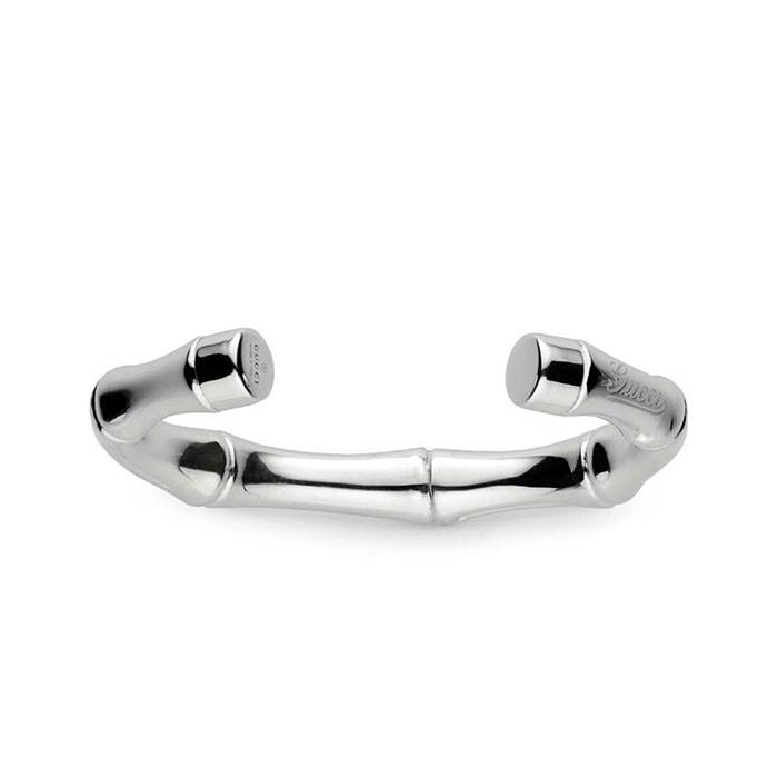 Gucci Bamboo Silver Cuff Bracelet