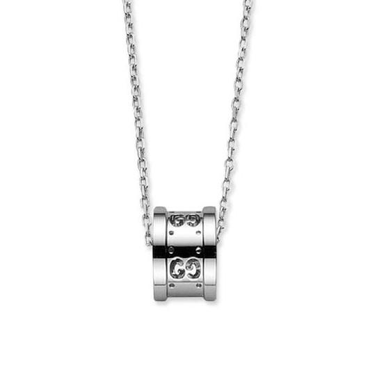 Gucci Icon White Gold Twirl Pendant on Chain