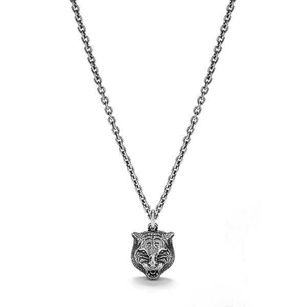 Gucci Gatto Silver Men's Necklace