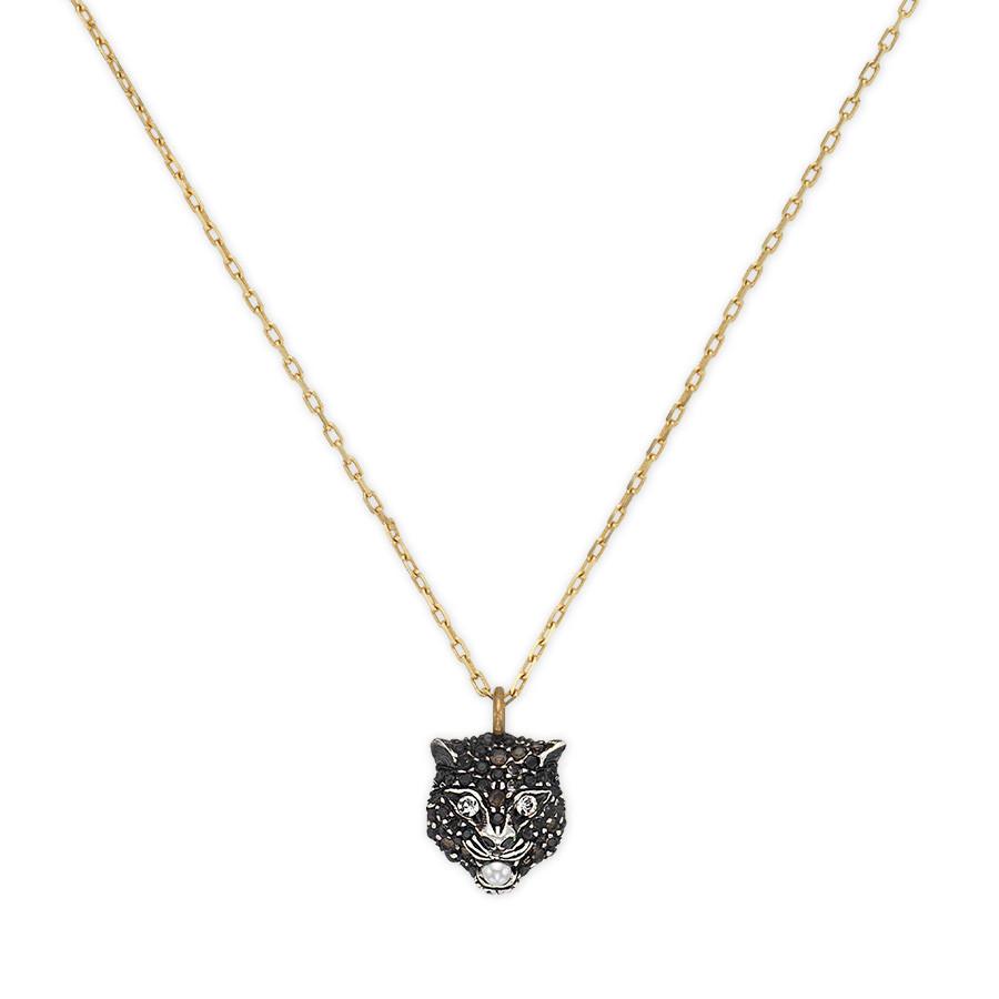 Gucci Diamond Feline Pendant Le Marche des Merveilles Necklace