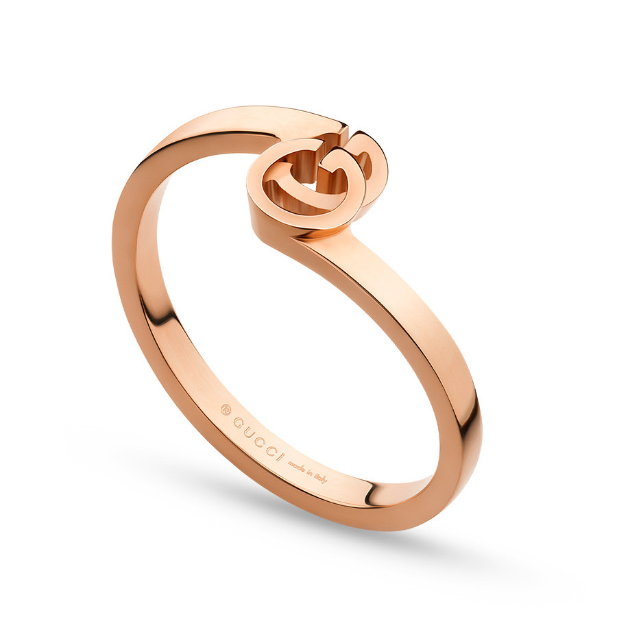 Gucci Rose Gold Stack Running G Ring