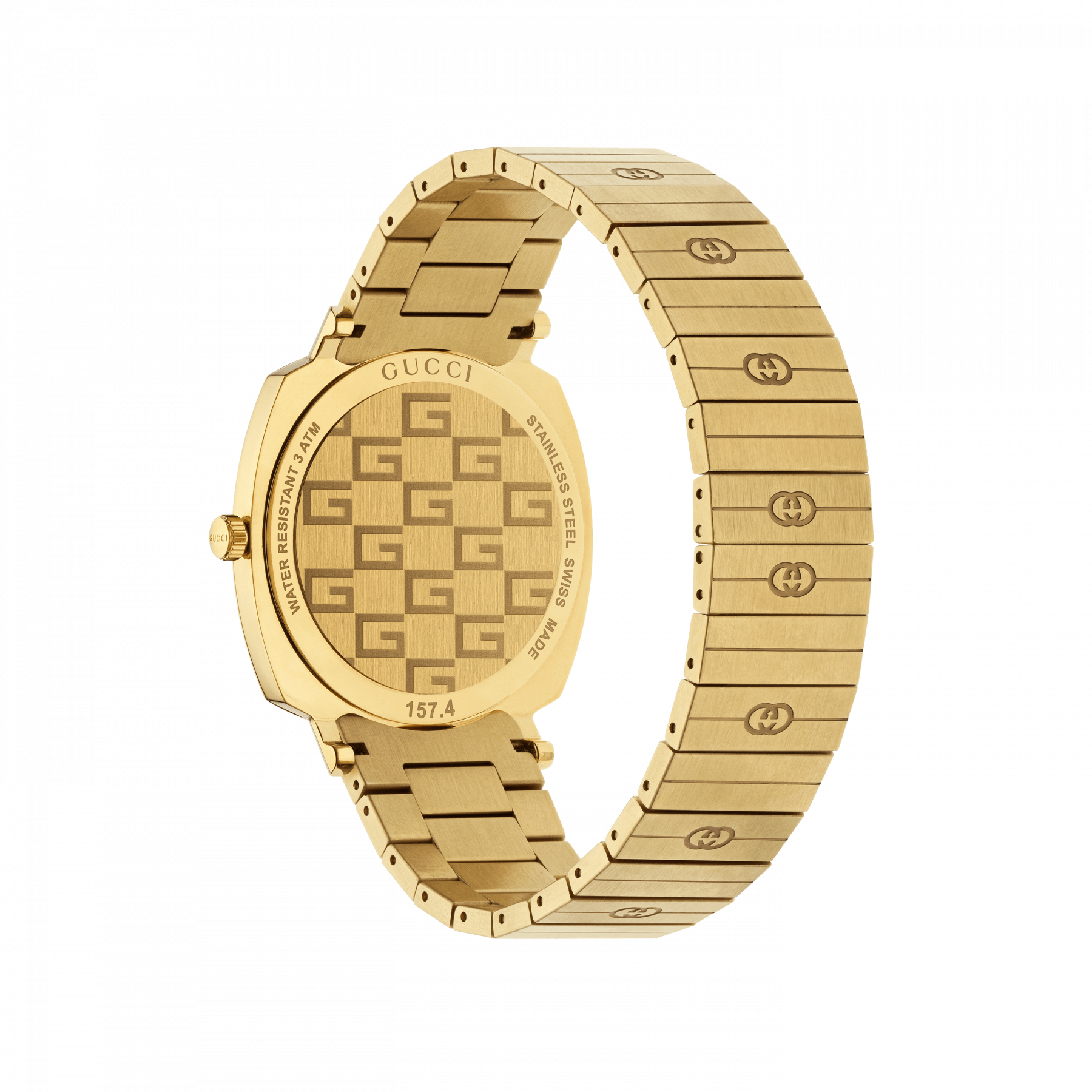 Gucci Grip 38mm Yellow Gold Watch back view