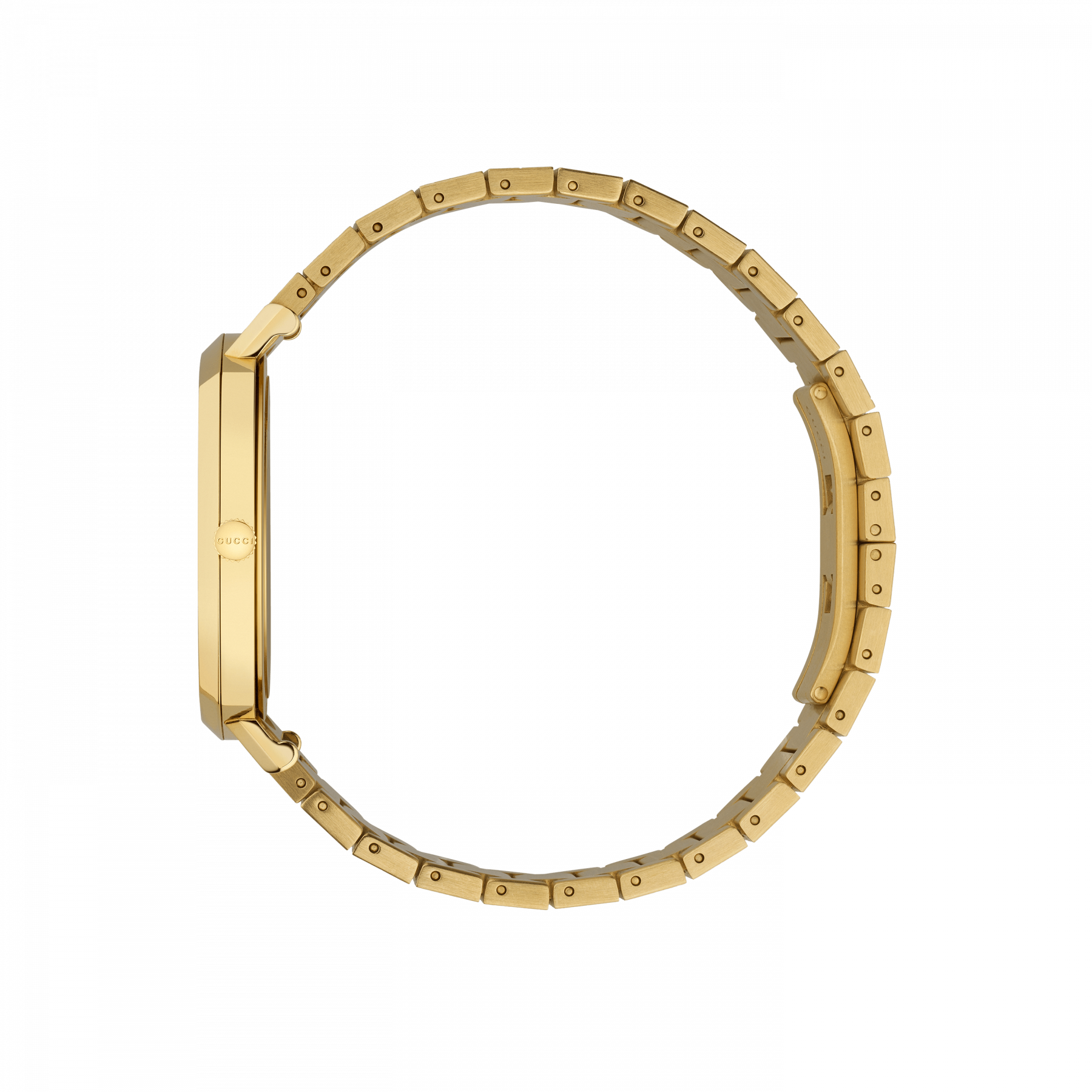 Gucci Grip 38mm Yellow Gold Watch side view