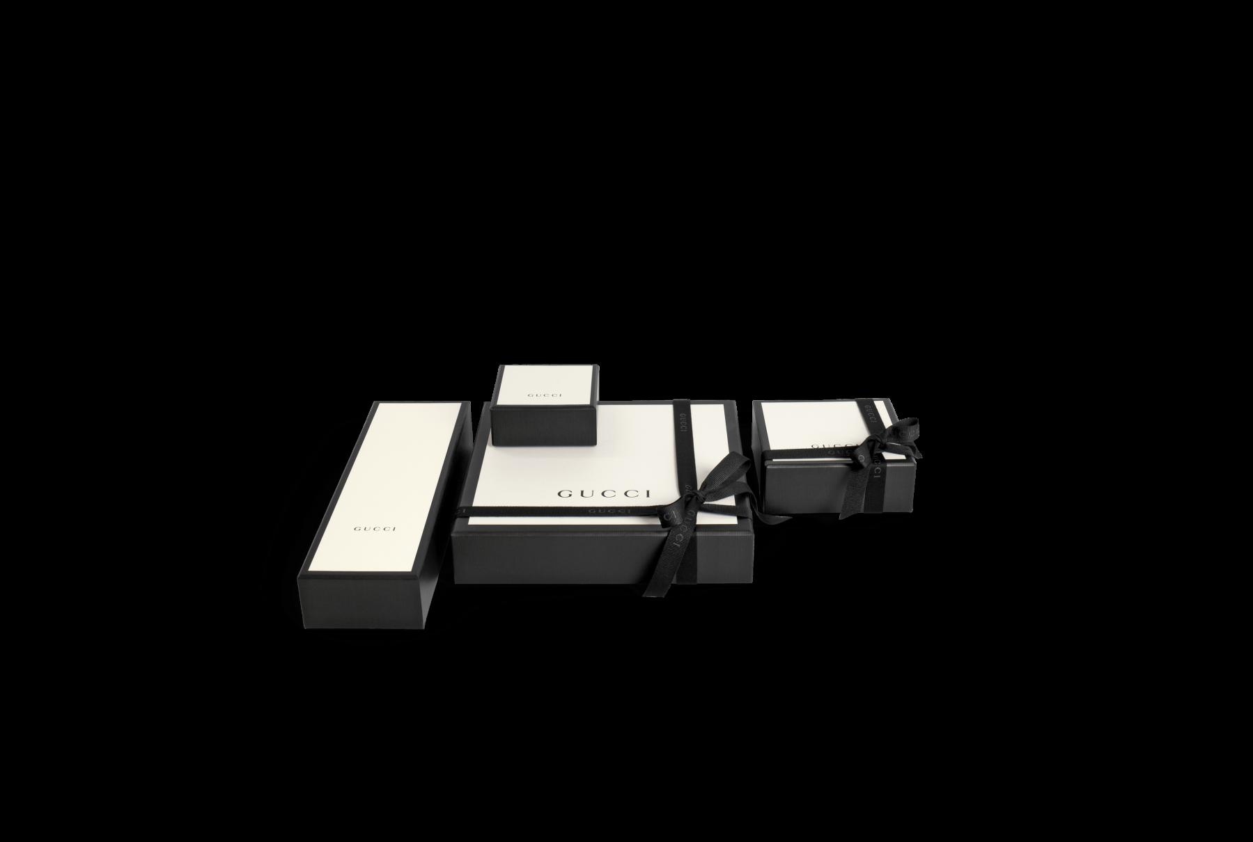 Gucci Interlocking G Charm Link Bracelet in Sterling Silver packaging
