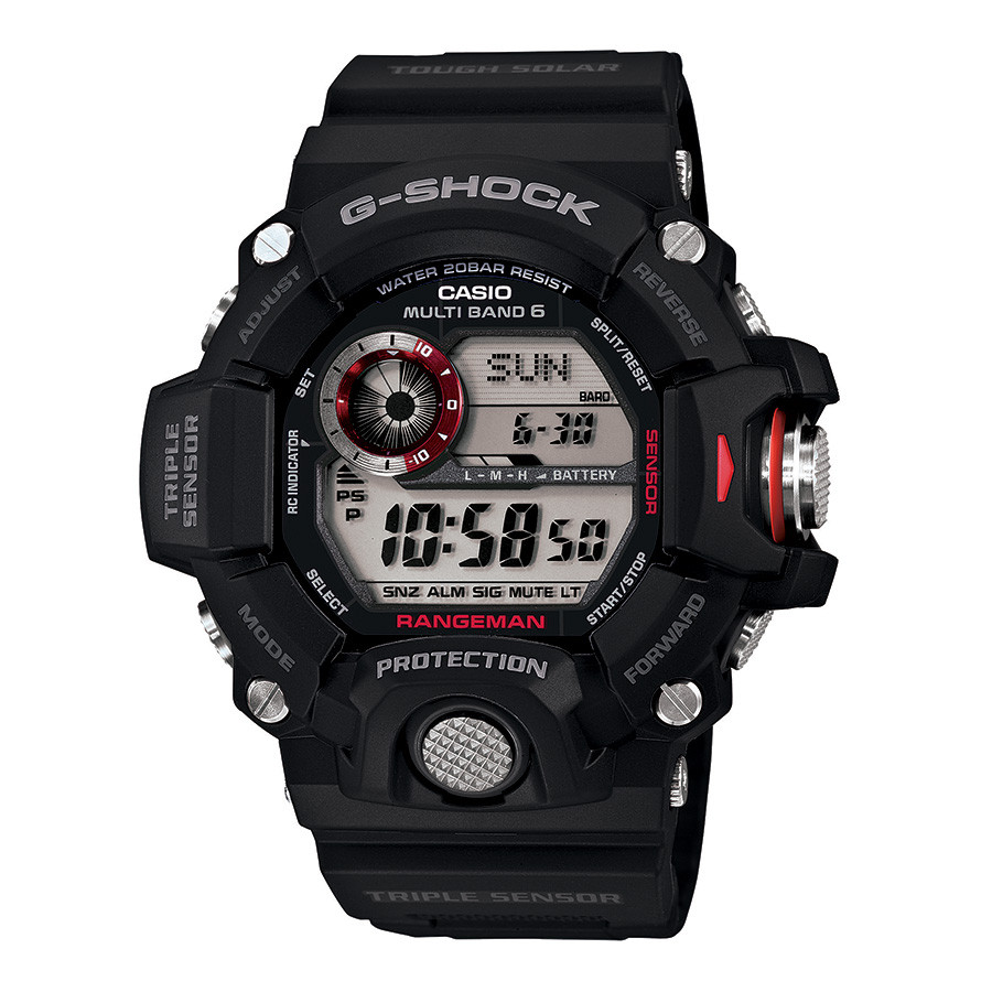 Casio Master of G Rangeman Black & Red Accent G-Shock Watch