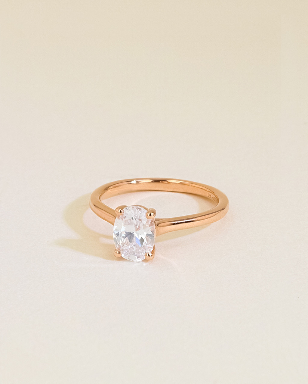 oval solitaire ring angle view
