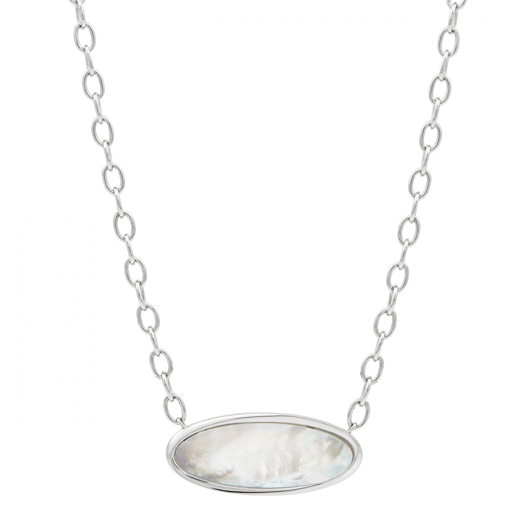 Honora Mother of Pearl and Silver Necklace
