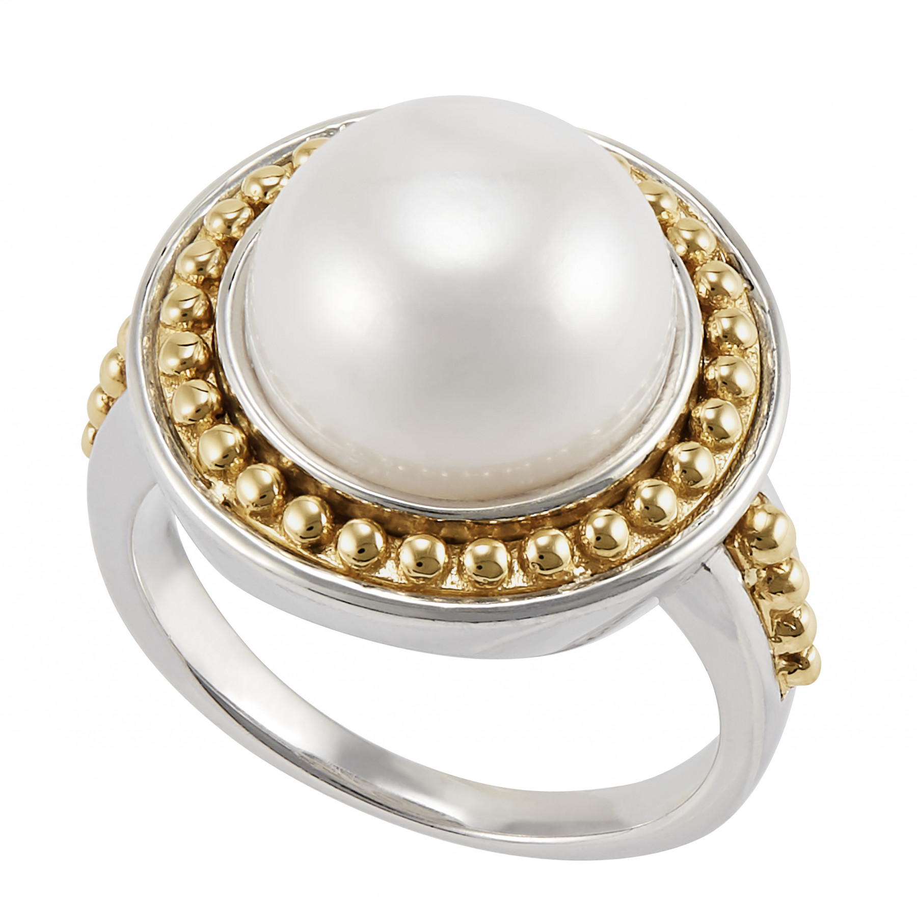 Honora Palline Gold and Silver Pearl Ring