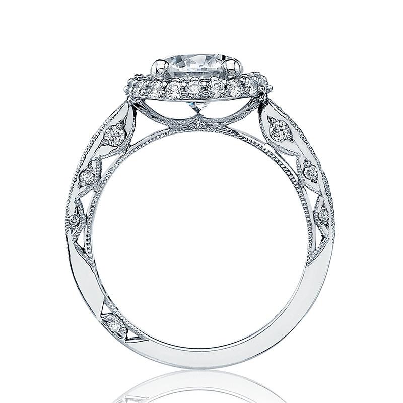 Tacori HT2518RD65 Platinum Loop Shank Engagement Blooming Beauties Ring Edge View