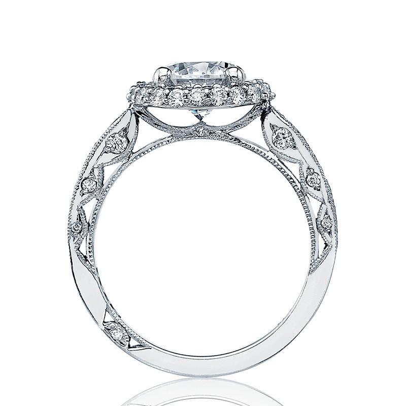 Tacori HT2518RD5 Platinum Loop Shank Engagement Blooming Beauties Ring Edge View