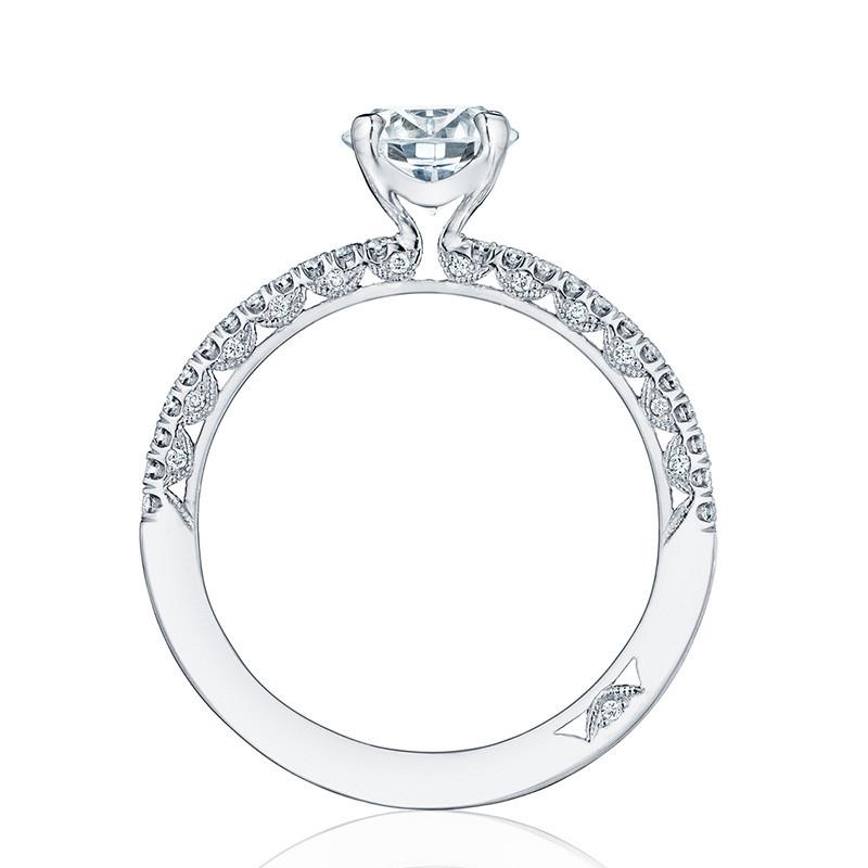 Tacori HT2545RD7 Platinum Engagement Petite Crescent Setting Edge View