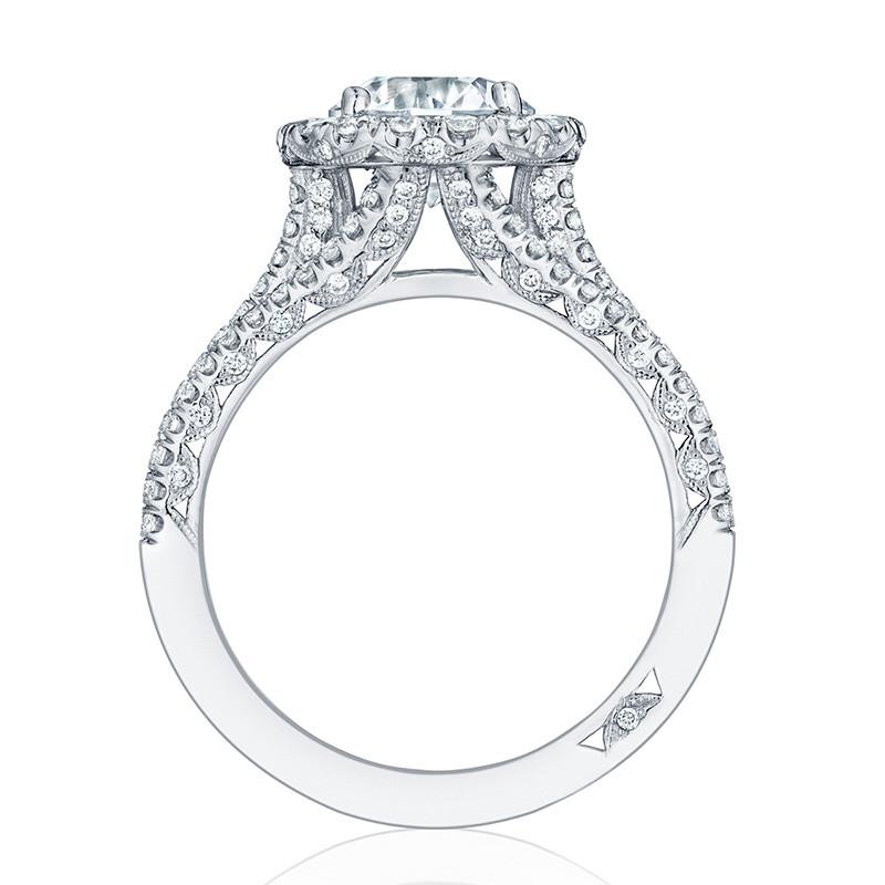 Tacori HT2551RD75 Triple Row Platinum Engagement Petite Crescent Setting Edge View