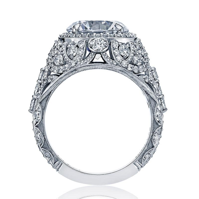 Tacori HT2612RD9 Sculpted Bloom Platinum Engagement RoyalT Setting Edge View