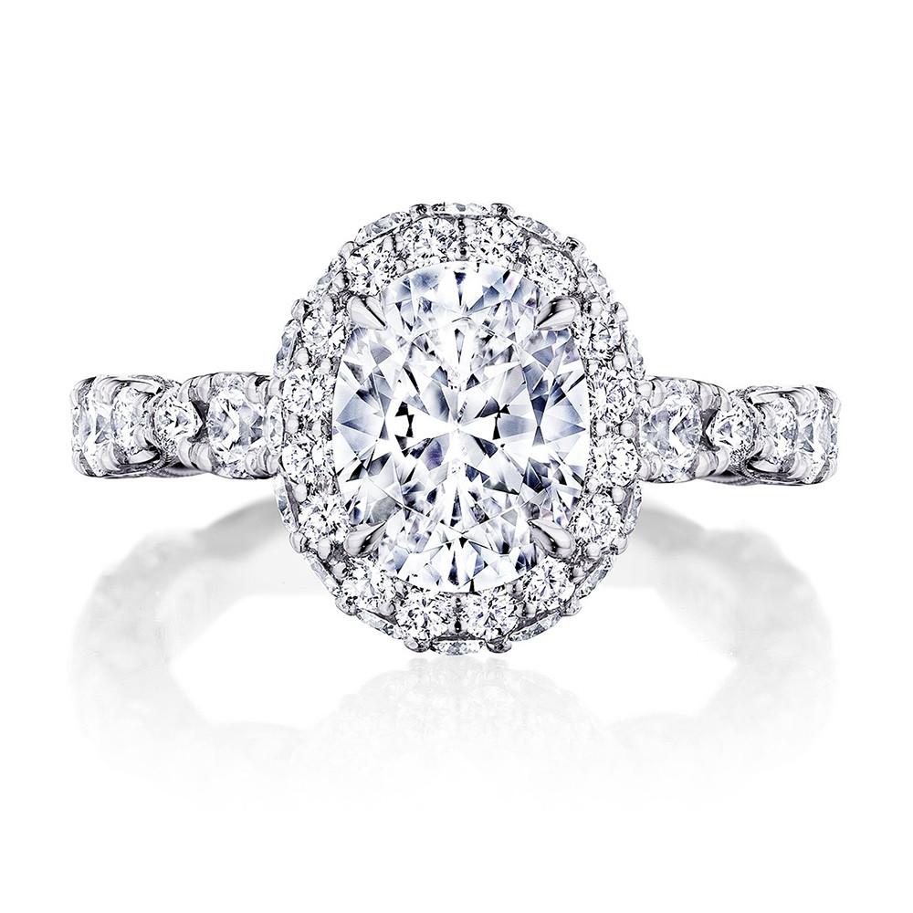 Tacori RoyalT HT2653OV Oval Double Diamond Bloom Engagement Ring Setting