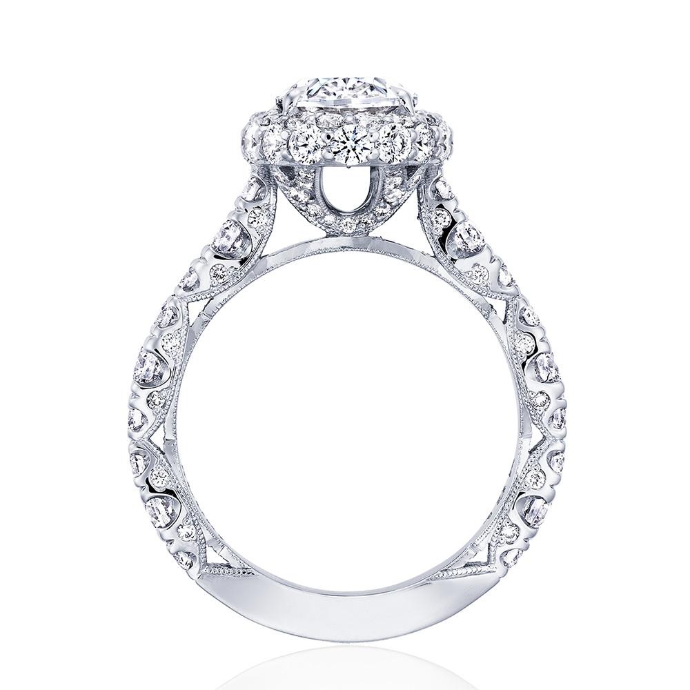Tacori RoyalT Oval HT2653OV Double Diamond Bloom Engagement Ring Setting