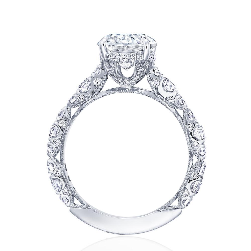 Tacori RoyalT Hidden Bloom HT2654OV Oval Diamond Engagement Ring Setting