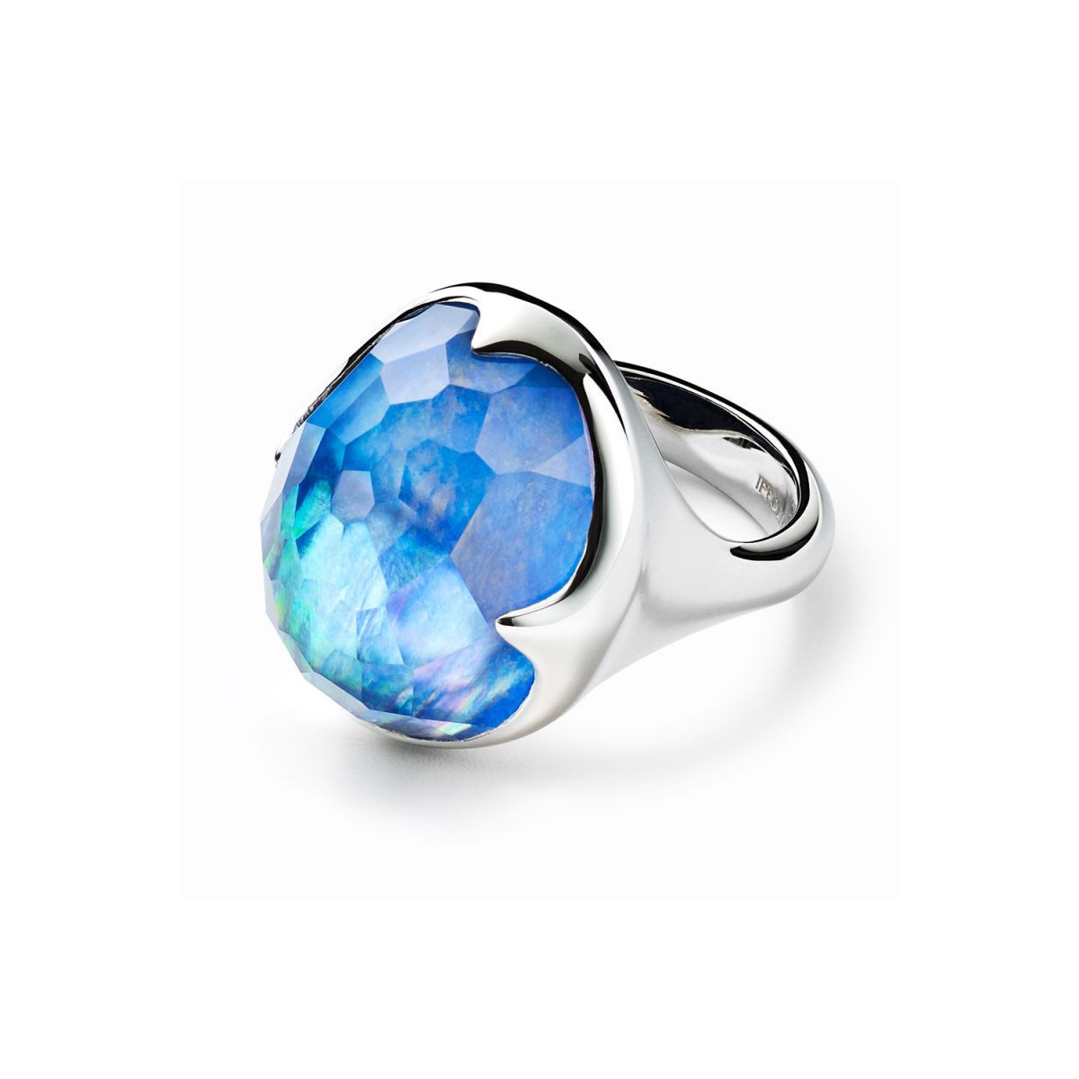 IPPOLITA Silver Rock Candy Blue Gemstone Prince Ring