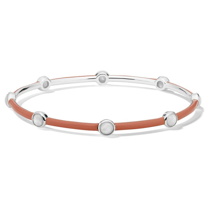 Ippolita Carnevale Eight Stone Coral Bangle in Sterling Silver main view