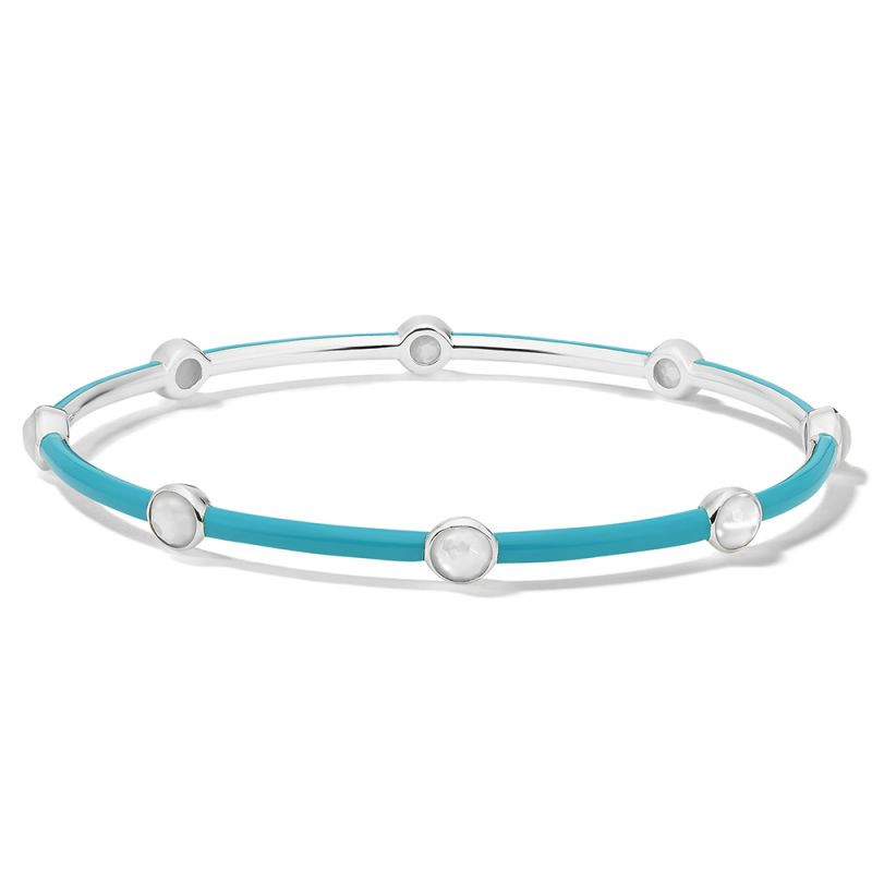 Ippolita Carnevale Eight Stone Turquoise Bangle in Sterling Silver main view