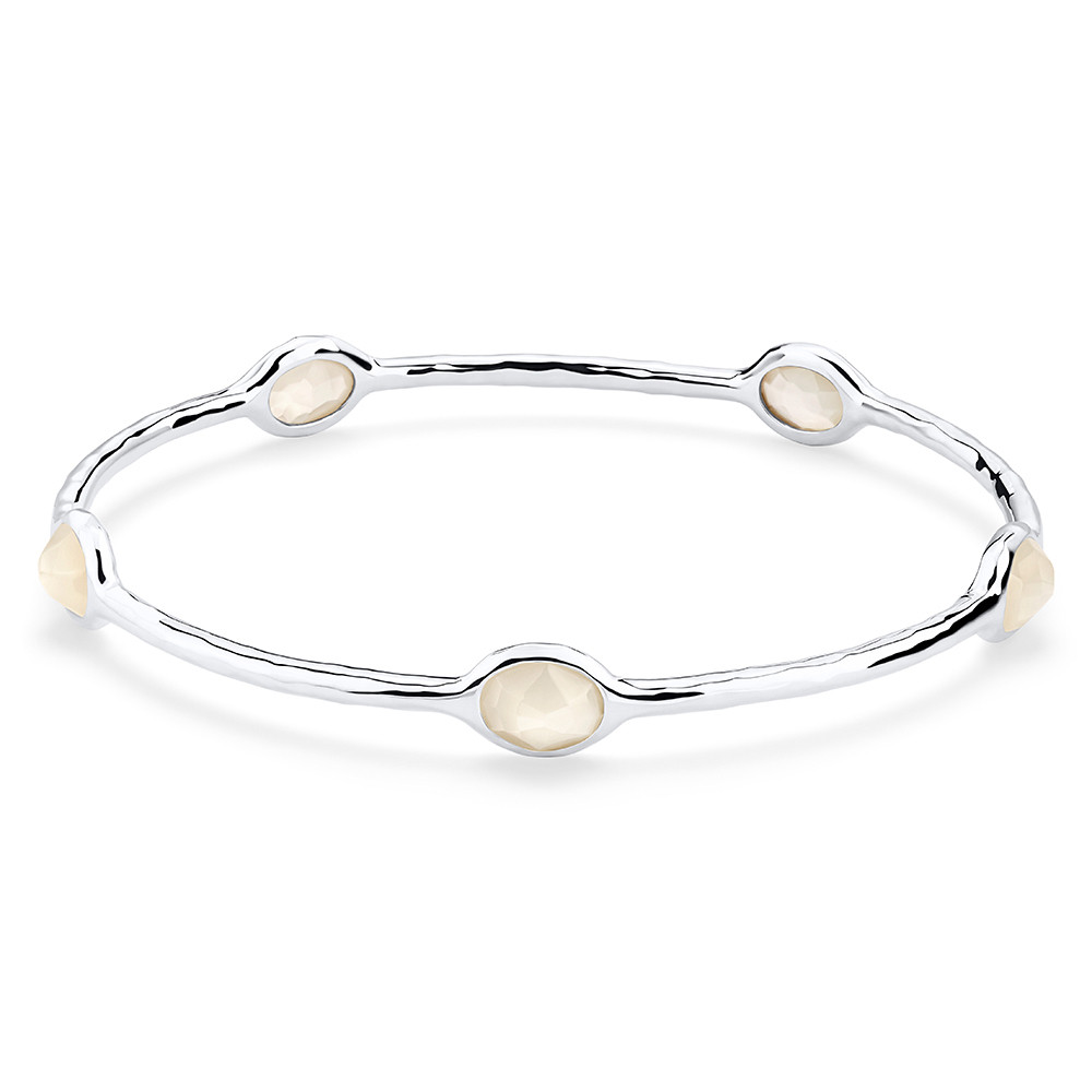 Ippolita Rock Candy Five Stone Mother of Pearl Bangle in Silver main view