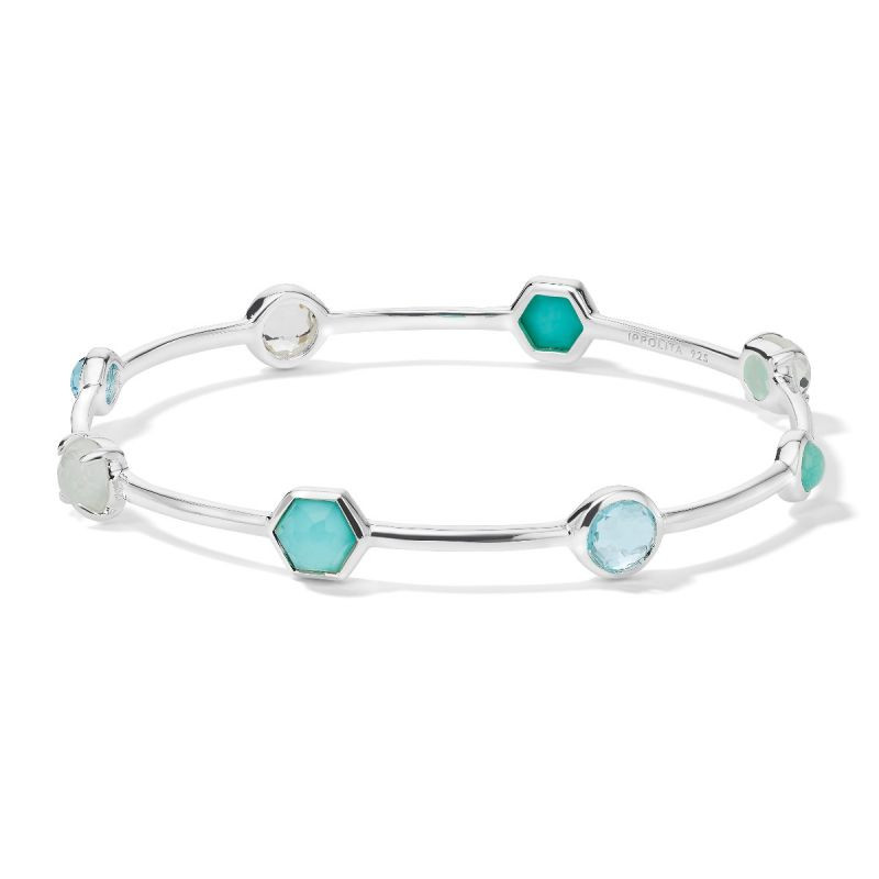 Ippolita Rock Candy Mixed Stone Bangle in Silver main view