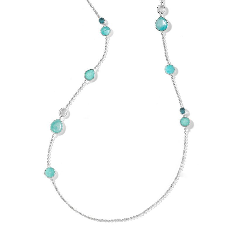 Ippolita Rock Candy Blue Gemstone Long Necklace in Silver main view