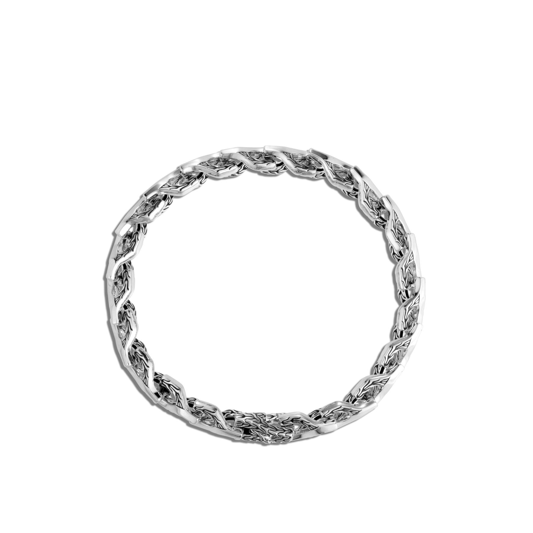 John Hardy Asli Classic Chain Silver Link Bracelet - 7mm top view