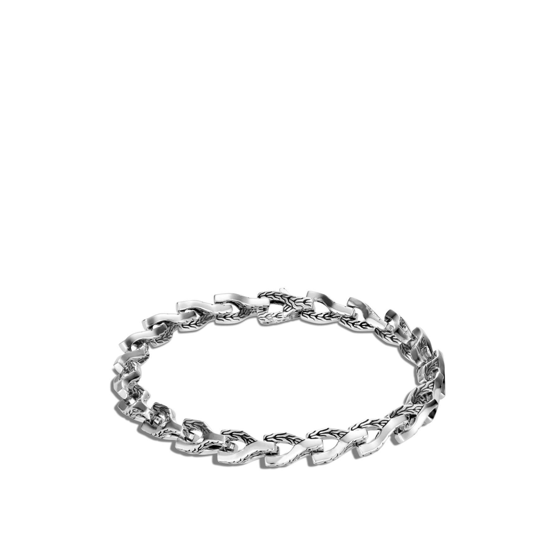John Hardy Asli Classic Chain Silver Link Bracelet - 7mm front view