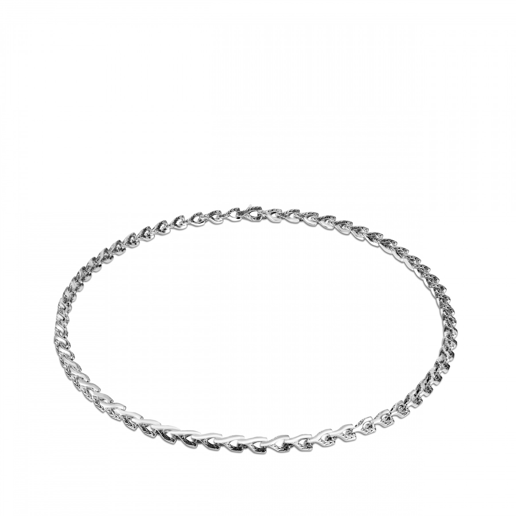 John Hardy Asli Classic Chain Silver Link Necklace - 7mm front view