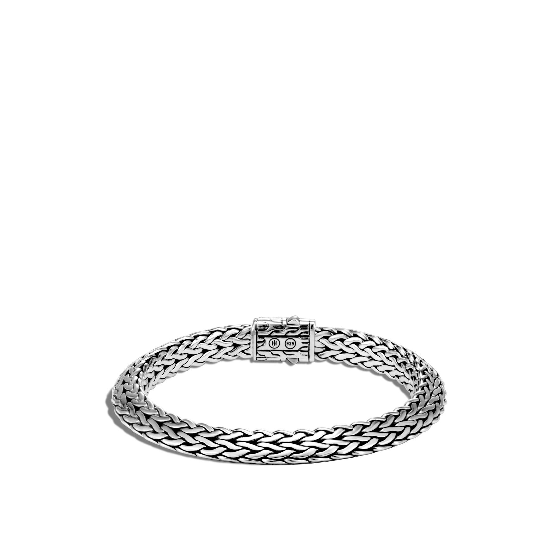 John Hardy Classic Chain Silver Black Sapphire Bracelet - 8mm back view