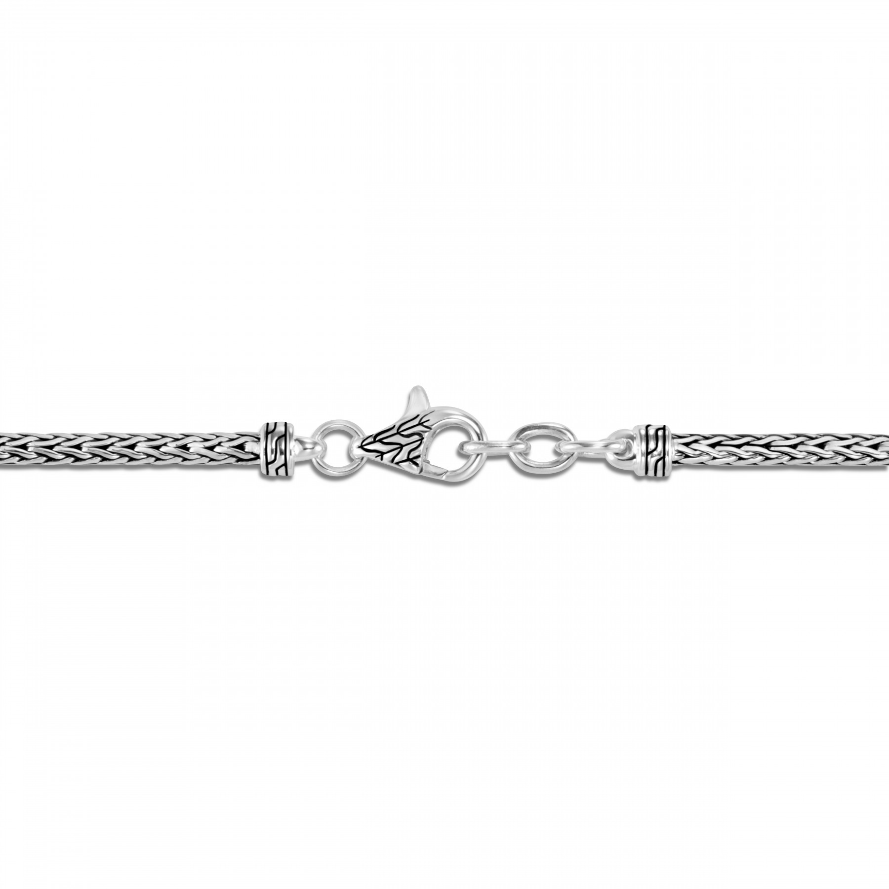 John Hardy Classic Chain Sterling Silver Cross Charm Bracelet clasp view